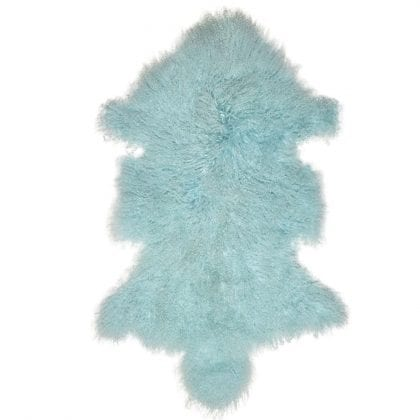 High Quality Tibetan - Mongolian Lamb Skin in Aqua - Main