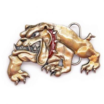 'Spike' Bulldog Pewter Belt Buckle-0