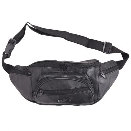 Mens - Ladies Lightweight Nappa Leather Waist Bag