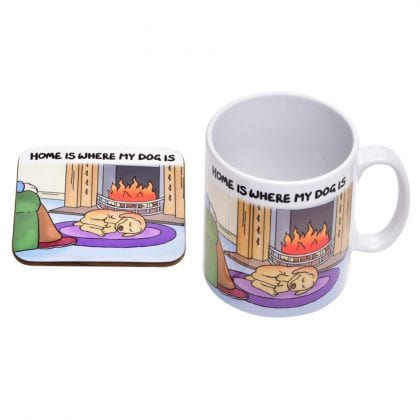 'Home Is Where My Dog Is' Mug and Coaster Gift Set-0