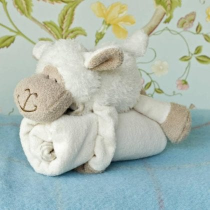 Jomanda Super Soft Toy Soother Blanket - Sheep - Lifestyle