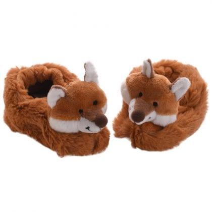 Jomanda Super Soft New Born Baby Booties with Cute Fox Faces-0