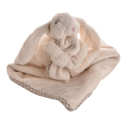 Jomanda Super Soft Toy Soother Blanket - Cream Bunny