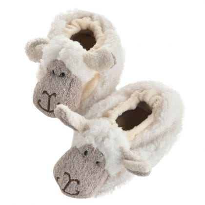 Jomanda Super Soft New Born Baby Booties with Cute Sheep Faces-0