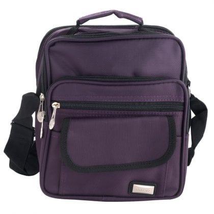 Unisex Lightweight Multi Zip Cross Body Bag