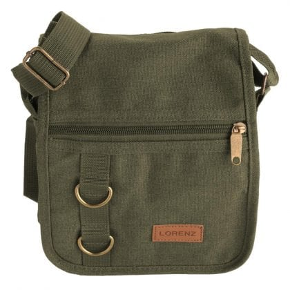Unisex Small Canvas Travel Work Messenger Bag