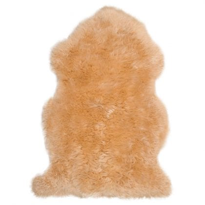 Super Soft Large Real Genuine Sheepskin Rug in Barley Beige - Main