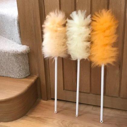 Genuine Lambswool Duster with Plastic Handle - Lifestyle