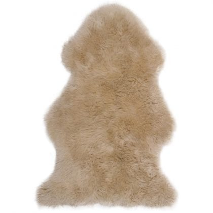 Super Soft Large Real Genuine Sheepskin Rug in Beige - Main