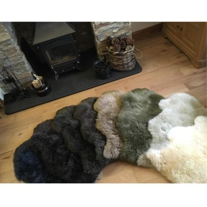 Super Soft Large Real Genuine Sheepskin Rug in Champagne - Lifestyle