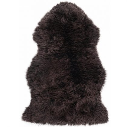 Super Soft Large Real Genuine Sheepskin Rug in Chocolate Tip Brown - Main