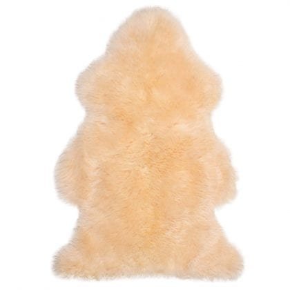 Super Soft Large Real Genuine Sheepskin Rug in Champagne - Main