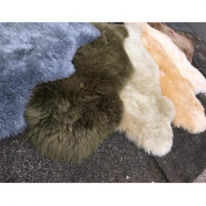 Super Soft Large Real Genuine Sheepskin Rug in Barley Beige - Lifestyle