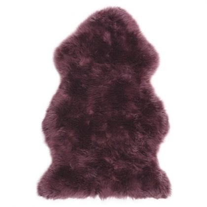 Super Soft Large Real Genuine Sheepskin Rug in Mulberry Purple - Main
