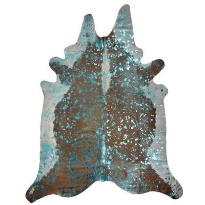 Turquoise Metallic Finish Genuine Cow Hide