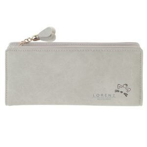 Ladies - Girls Large Faux Leather Purse with Zipped Coin Section
