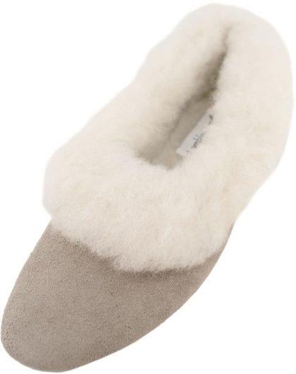 Ladies Suede & Wool Grecian Slippers-0
