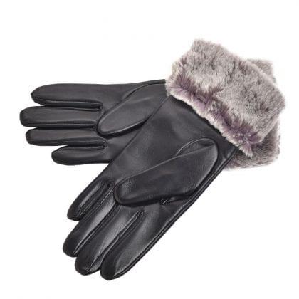Ladies Premium Leather Gloves with Sheepskin Cuff - Bottom