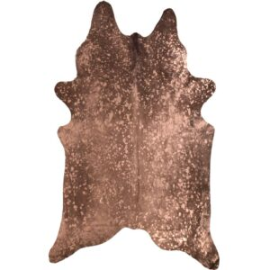 Rose Gold Metallic Finish Genuine Cow Hide