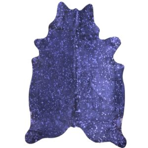 Purple Metallic Finish Genuine Cow Hide