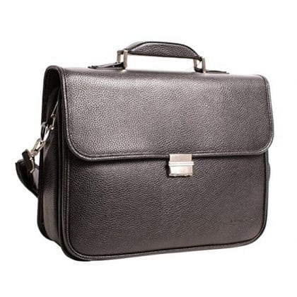 Unisex Laptop Business Faux Leather Large Case with a Combination Lock
