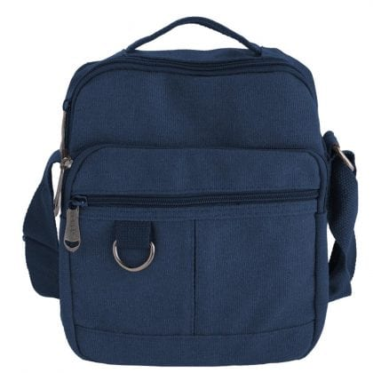 Unisex Multi Zip Canvas Travel Bag with Carry Handle