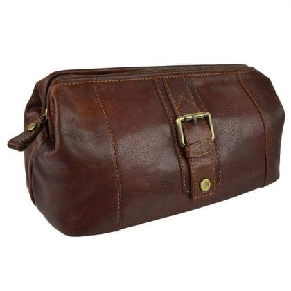 Unisex Stylish Leather Toiletry Bag from Prime Hide Trent Range