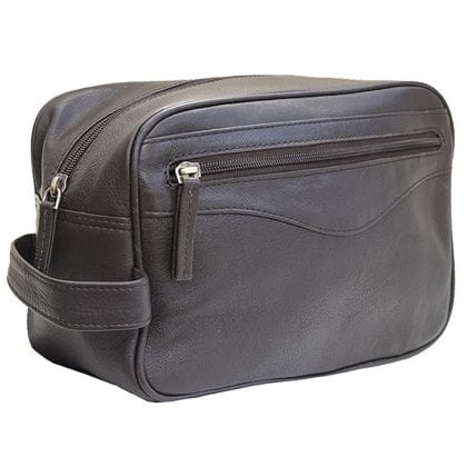 Unisex Stylish Leather Wash - Toiletry - Shaving - Travel Bag by Prime Hide