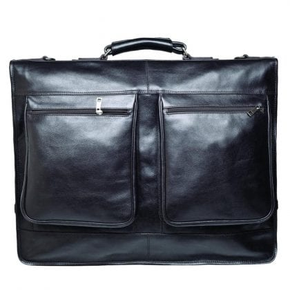 Luxury Leather Suit Carry Holdall - Garment Bag - Travel Bag