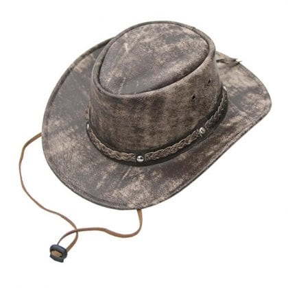 Wombat Leather Cow Hide Crushable Leather Hat