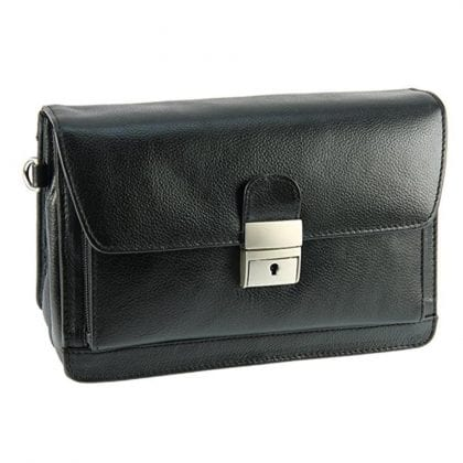 Mens Compact Soft Leather Pouch - Wrist Bag by Prime Hide