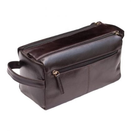 Unisex Buff Genuine Leather Luxury Wash - Toiletry Bag by Prime Hide