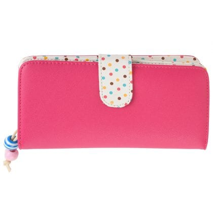 Ladies - Girls Large Faux Leather Polka Dot Purse