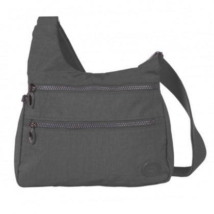 Ladies Triple Zipped Cross Body Handbag