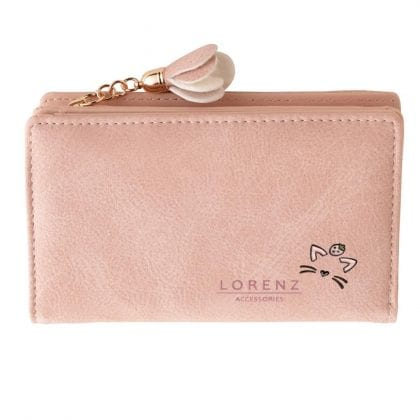 Ladies - Girls Faux Leather Purse with Zipped Coin Section