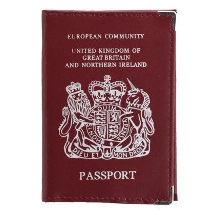 Genuine Leather British Passport Cover