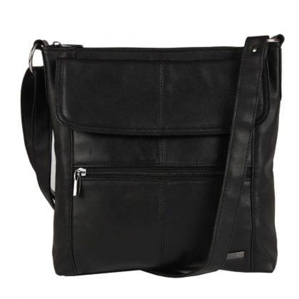 Ladies Multi Zip Slim Cross Body Handbag