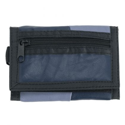 Mens Boys Soft Nappa Leather Ripper Wallet with Carabiner Clip