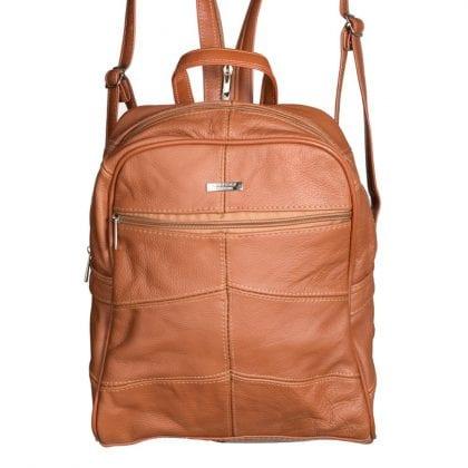 Ladies Large Genuine Leather Backpack - Rucksack