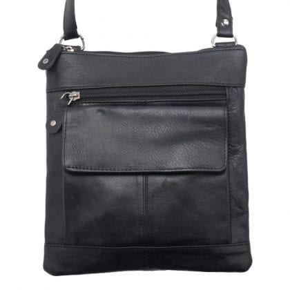 Mens - Ladies Super Soft Genuine Leather Cross Body Bag