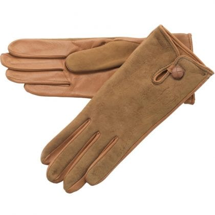 Ladies Leather Palm Lambskin Back Gloves