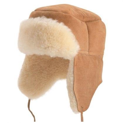 Unisex Double Faced Genuine Sheepskin Trapper Hat