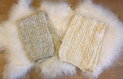 Unisex 100% Wool Aran Scarf - Lifestyle