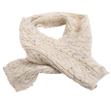Unisex 100% Wool Aran Scarf