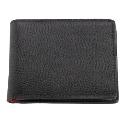 Mens Ultra Slim Genuine Leather Two Tone Wallet
