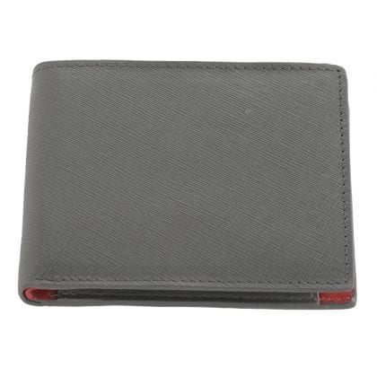 Mens Genuine Leather Two Tone Wallet with Coin Holder