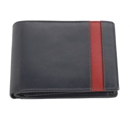 Mens Super Soft Leather Two Tone Organiser Wallet