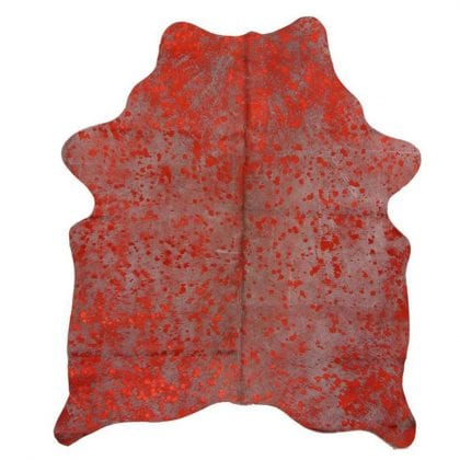 Red Metallic Finish Genuine Cow Hide