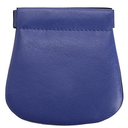 Genuine Super Soft Leather Snap Top Change Wallet