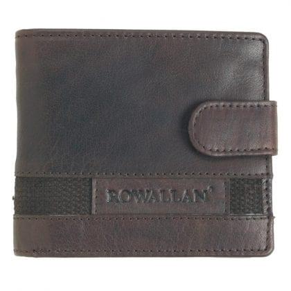 Mens Buffalo Rustic Leather Flip Out Wallet by Rowallan
